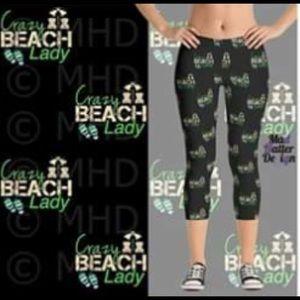 Pants - Beach Lady Capri Leggings